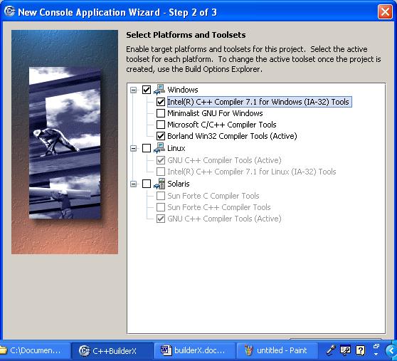 Borland C/C++ builderX compiler IDE platform and toolset