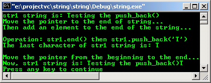 C++ STL character and string push_back()
