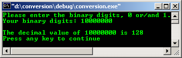 C/C++ data type binary representation