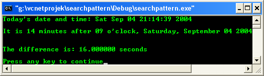 C/C++ function from standard header file time and date