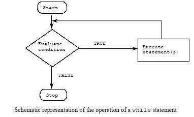 C++ program control while statement loop repetition