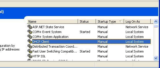 Windows services: Starting a service program example