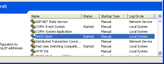 Windows services: Starting a service verification through Services snap-in