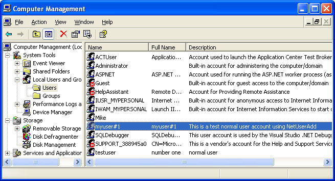 Add user account to a system