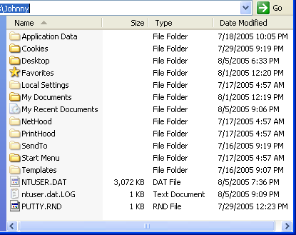 Registry user supporting files