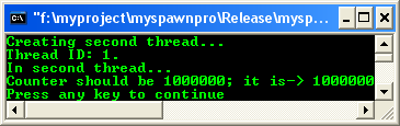Multithreaded program output
