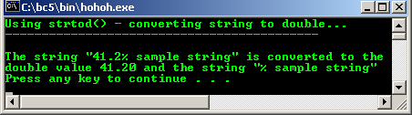 strtod() – converting string to double with 2 arguments