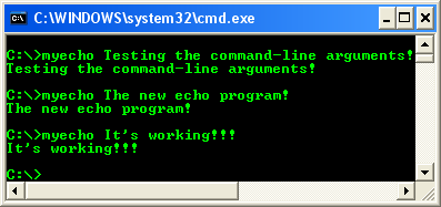 main() and command-line argument