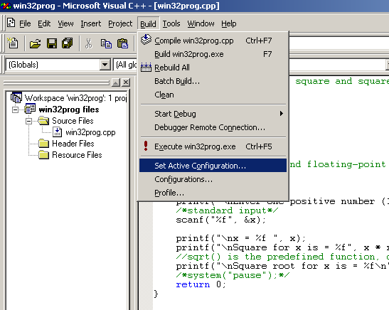 Using Microsoft Visual C++ 5 0, 6 0 to compile, link and