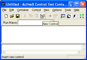 Figure 19: Inserting new control to ActiveX Control Test Container.