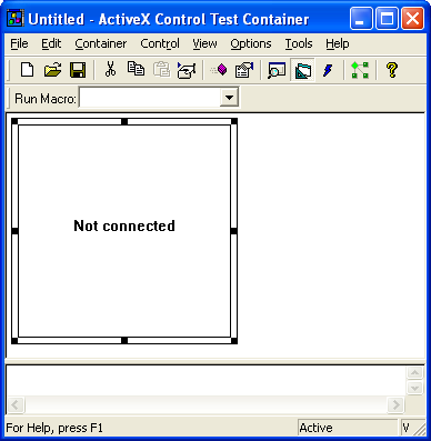 Figure 21: CDispCtl object in ActiveX Control Test Container.