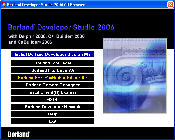 Borland Developer Studio 2006 (4 cds)