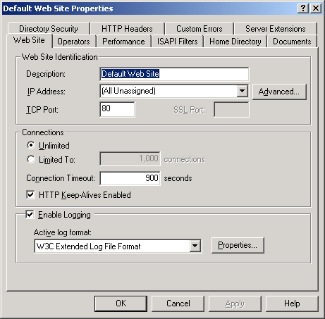 A step-by-step tutorial on setting up the web server using