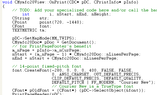 code for printing to pdf file in c++